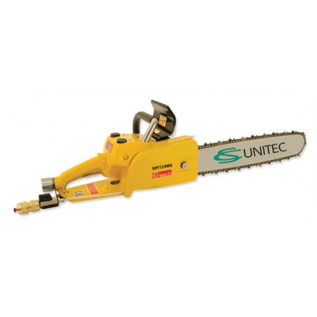 Series 5 1026, 5 1027, 5 1028 and 5 1029 Pneumatic chain saw with brake